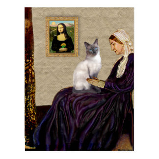 Whsitlers Mother - Blue Point Siamese cat Postcard