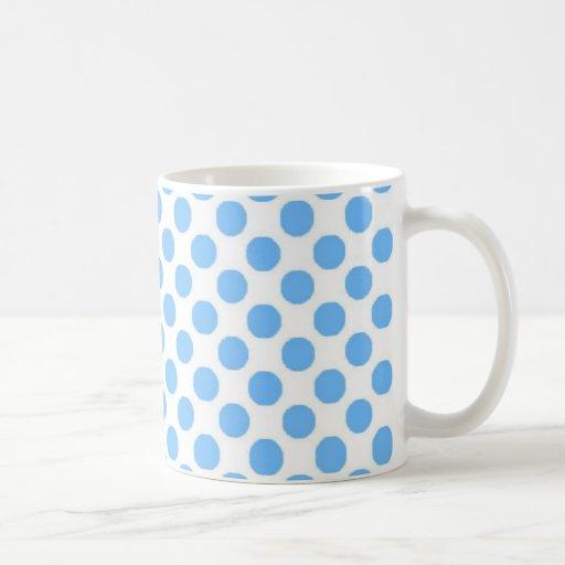 wht w-blue polka dots classic white coffee mug