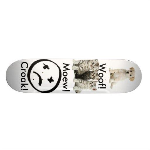whte-background, cute%20puppy, kitten, face, Mo... Custom Skateboard