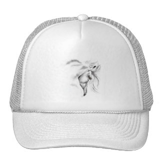 Whte Horse Head  Hat