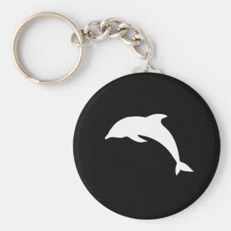 Whtie Dolphin Silhouette Keychain