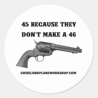 Why A 45 Classic Round Sticker