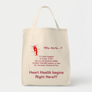 Why..Aorta....!! Heart Healthy Grocery Tote