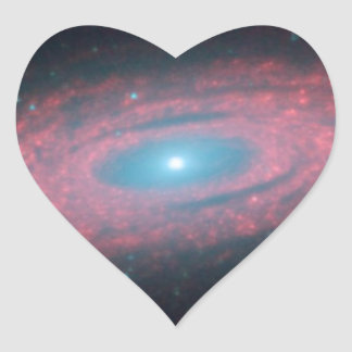 Why Are Galaxies So Smooth Heart Sticker