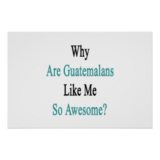 Why Are Guatemalans Like Me So Awesome? Poster