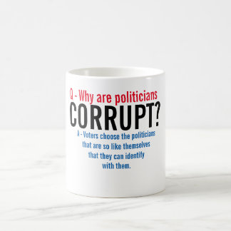 Why are politicians corrupt - Quote Mug