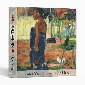 Why Are You Angry? (No Te Aha Oe Riri?) By Gauguin 3 Ring Binder