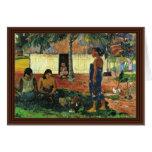 Why Are You Angry? (No Te Aha Oe Riri?) By Gauguin Greeting Card