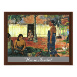 Why Are You Angry? (No Te Aha Oe Riri?) By Gauguin Personalized Invite