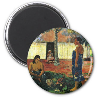 Why Are You Angry? (No Te Aha Oe Riri?) By Gauguin Fridge Magnet