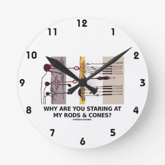 Why Are You Staring At My Rods & Cones? Round Clock