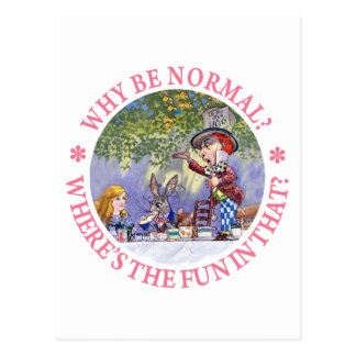 WHY BE NORMAL? POSTCARD