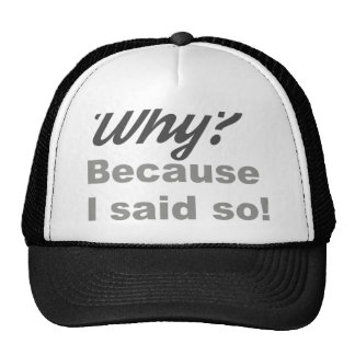Why? Because I said so! Trucker Hat