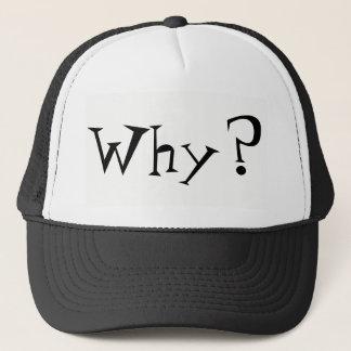 Why Big Question Mark Design Trucker Hat