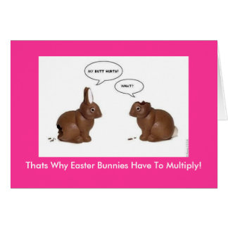 Why Bunnies Multiply - Easter Card
