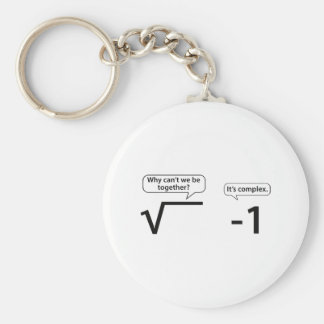 Why Can't We Be Together? It's Complex. Basic Round Button Keychain