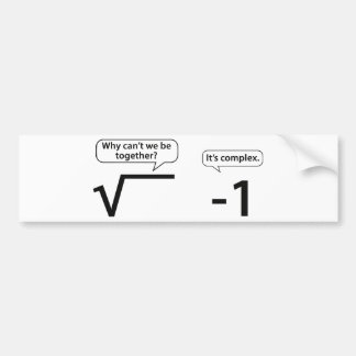 Why Can't We Be Together? It's Complex. Bumper Sticker