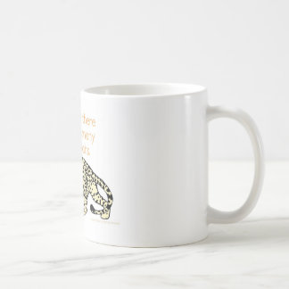 Why can't you play cards in the jungle? coffee mug