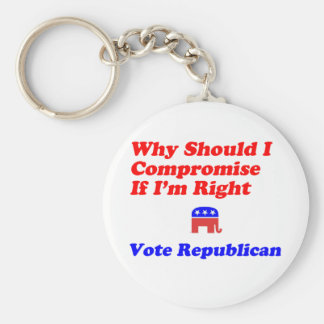 Why Compromise - Republican Key Chains
