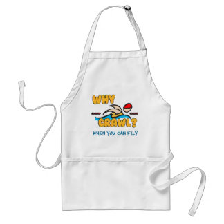 Why Crawl?  Butterfly! Adult Apron