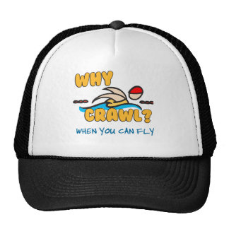 Why Crawl?  Butterfly! Mesh Hat