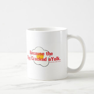 Why did the bacon laugh? coffee mug