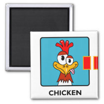 Why Did The Chicken? (1 of 3) Magnet