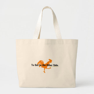 Why did the chicken cross the road? canvas bag