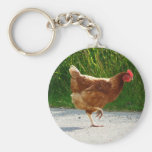 Why did the Chicken Cross the Road? Basic Round Button Keychain