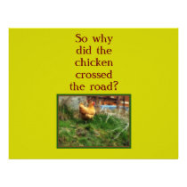 why did the chicken cross the road letterhead