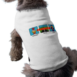 Why Did The Chicken? Doggie Tee Shirt