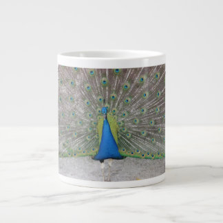 Why Did the Peacock Cross the Road? 20 Oz Large Ceramic Coffee Mug