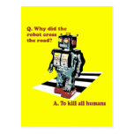 Why Did the Robot Cross the Road Postcard