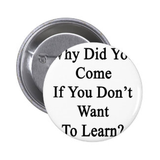 Why Did You Come If You Don't Want To Learn Button