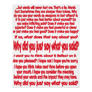 Why Did You Just Say What You Said? Fine Art Print