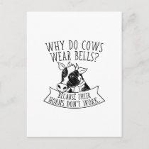 Why Do Cows Wear Bells Postcard