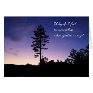 Why do I feel so incomplete...Love Card