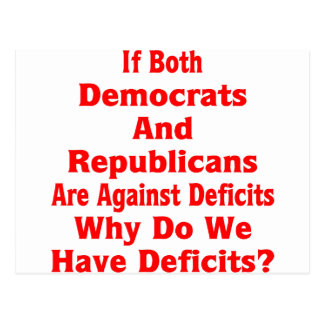 Why Do We Have Deficits? Postcard