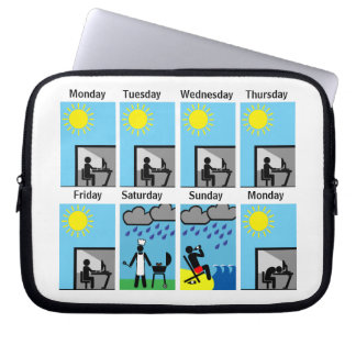 Why does weekend weather always suck laptop sleeve