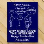 Why Dogs Love The Internet Funny Graduation Custom Countdown Calendars
