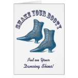 Why Don't We Go Out Dancing? Victorian Boots Greeting Card
