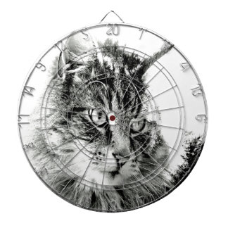 Why don't you love me cat emotion dartboard with darts