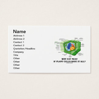 Why Eat Meat If Plant Cells Have It All? Business Card