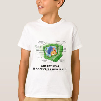 Why Eat Meat If Plant Cells Have It All? (Veg Fun) T-Shirt