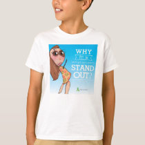 """Why fit in?"" tee shirt"