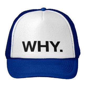WHY. fun slogan trucker hat