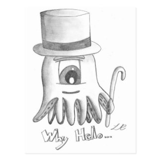 Why Hello Octopus Postcard