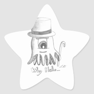 Why Hello Octopus Star Sticker