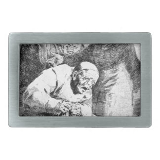 Why hide them? by Francisco Goya Rectangular Belt Buckle