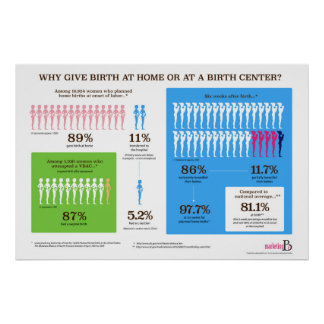 "Why Home Birth? Infographic 36"" x 24"" Poster"